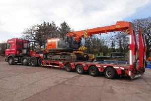 HITACHI ZX225 TELESCOPIC CRAWLER CRANE ON ROUTE TO HONG KONG